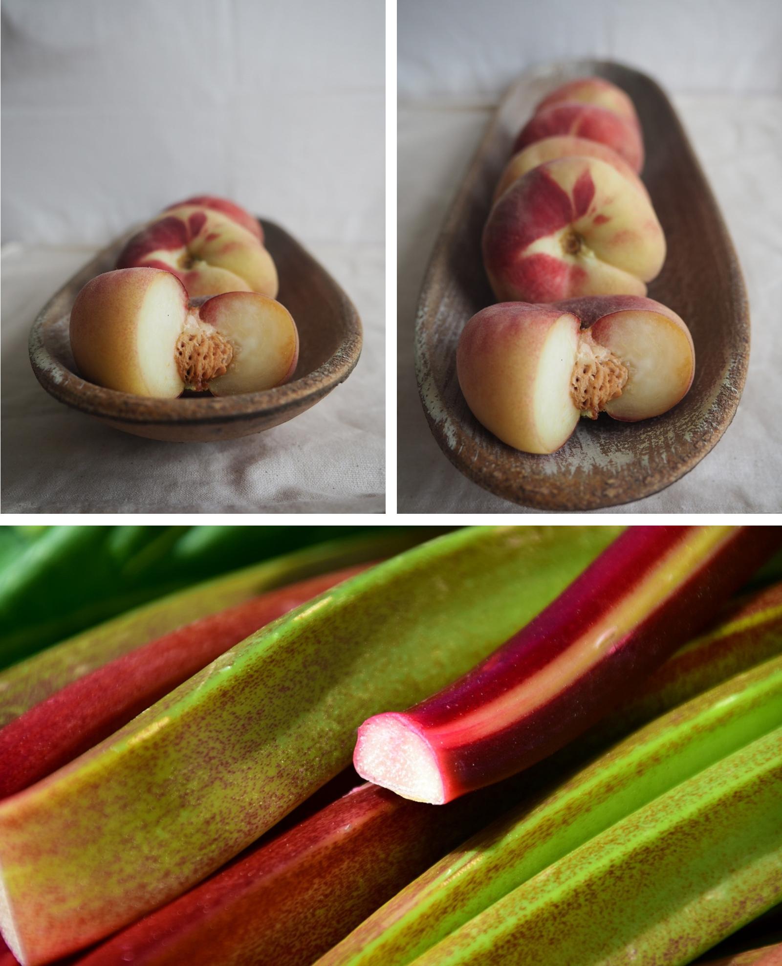 tarte rustique peches rhubarbe